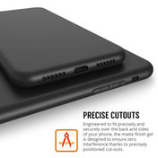 Apple iPhone X TPU Gel - Solid Black Matte