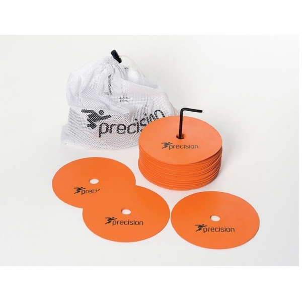 Precision Medium Round Rubber Marker Discs Orange (Set of 20)
