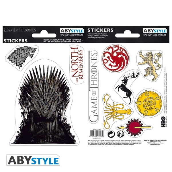 Game Of Thrones - Stark/ Sigils Mini Stickers