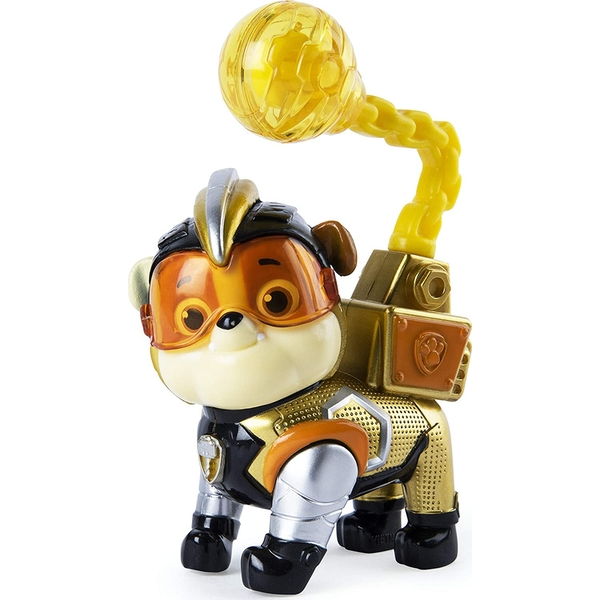 Paw Patrol Mighty Pups Super Paws Figure - Rubble