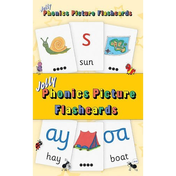 Jolly Phonics Picture Flash Cards in Precursive Letters Cards 2014