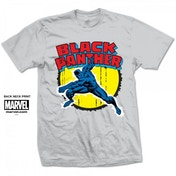 Marvel Comics Black Panther Mens White T-Shirt Medium