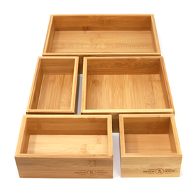 5-Piece Bamboo Drawer Organiser | M&W