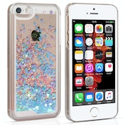 YouSave Accessories iPhone 5 / 5s / SE Quicksand Scale Hard Case - Blue