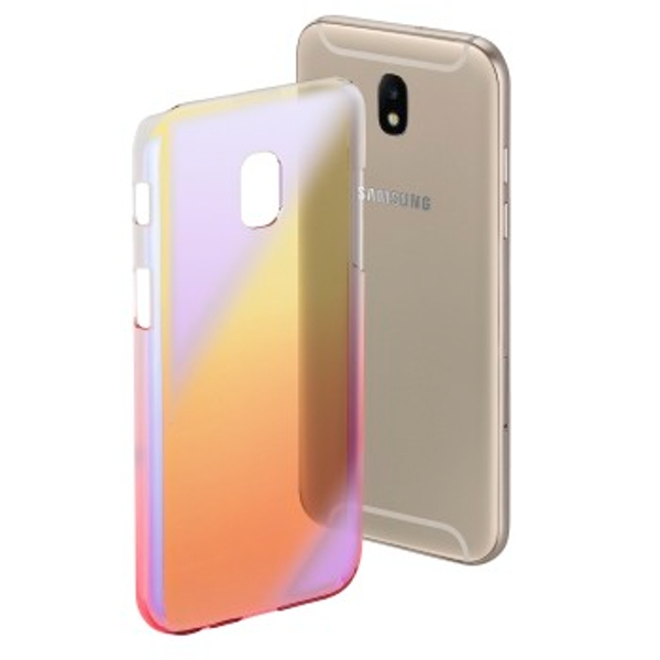 """Hama """"Mirror"""" Cover for Samsung Galaxy J7 (2017), yellow/pink"""