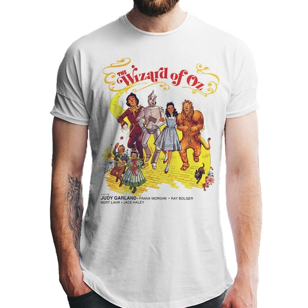 Wizard Of Oz - Unisex Large Poster T-Shirt (White)