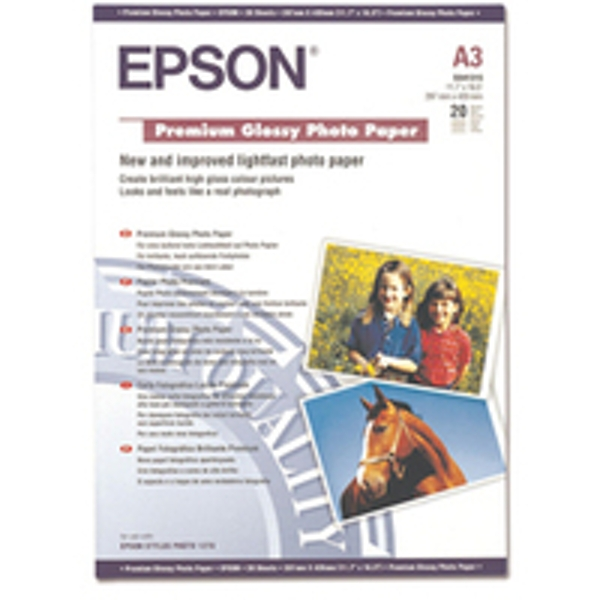 Epson Premium Glossy Photo Paper, DIN A3, 255g/m², 20 Sheets