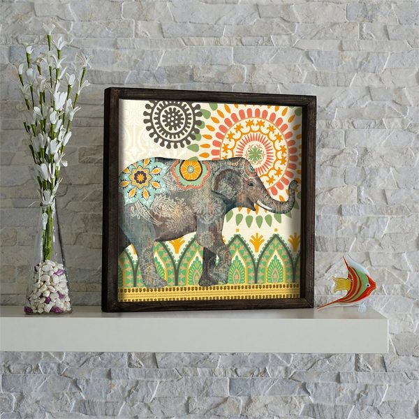 KZM517 Multicolor Decorative Framed MDF Painting