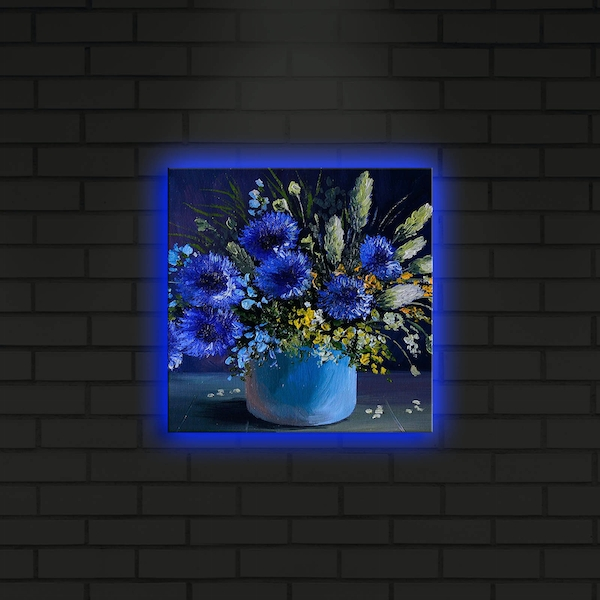 2828DACT-14 Multicolor Decorative Led Lighted Canvas Painting