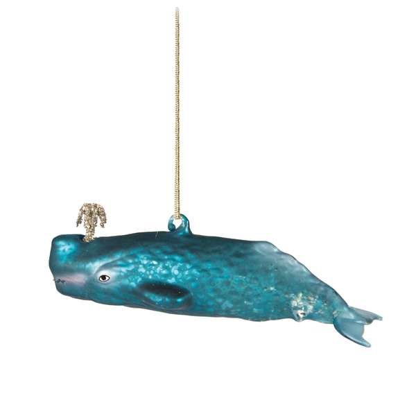 Sass & Belle Glitzy Whale Shaped Bauble