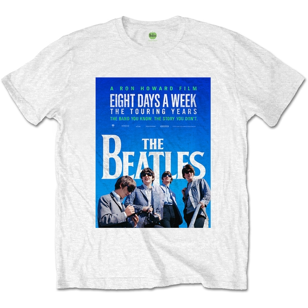 The Beatles - 8 Days a Week Movie Poster Unisex Large T-Shirt - White