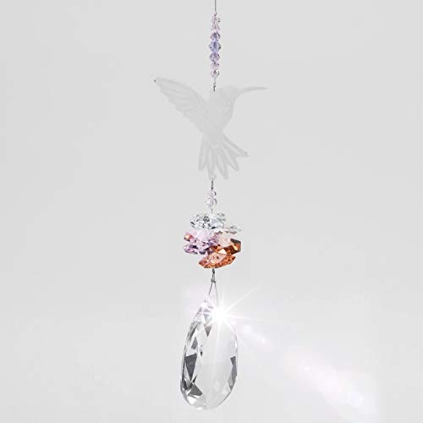 Crystal Hummingbird Metal Hanging Decoration