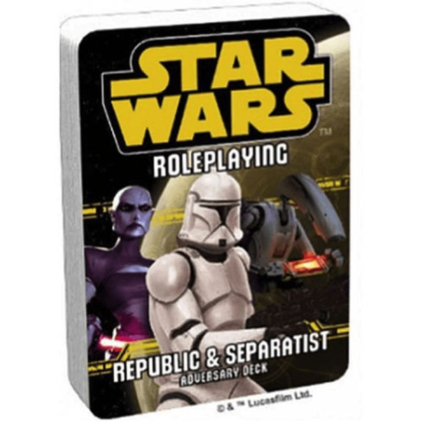 Star Wars Roleplaying Republic and Separatist Adversary Deck