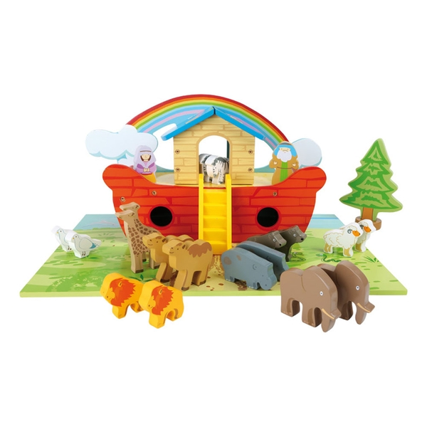 Legler - Small Foot Noah's Ark Wooden Kid's Playset (Multi-colour)