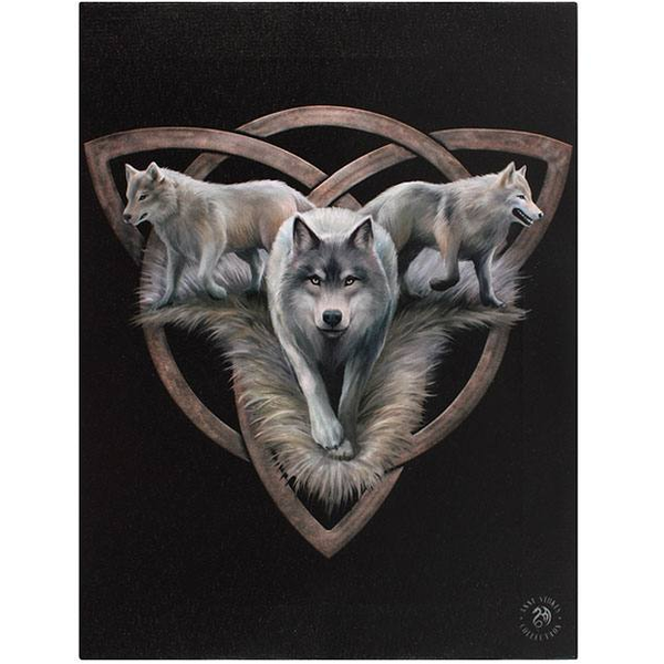 Small Wolf Trio Canvas Picture by Anne Stokes