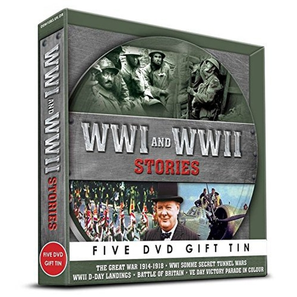 WWI & WWII Stories DVD Gift Tin