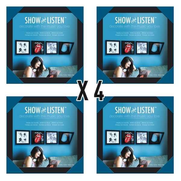 Show & Listen Black Vinyl Record Album LP Frame (Pack Of 4)