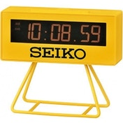 Seiko QHL062Y Countdown Style Sports Timing Clock Yellow