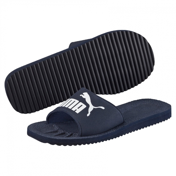 Puma Purecat Unisex Slide Navy - UK Size 10