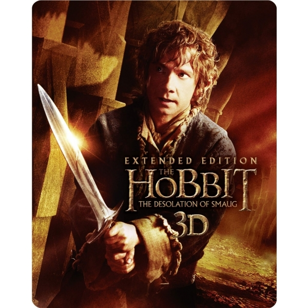 Hobbit Desolation Of Smaug 3D Extended Edition Steelbook Blu-ray
