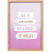 Be A Unicorn In A Field Of Horses Framed Art