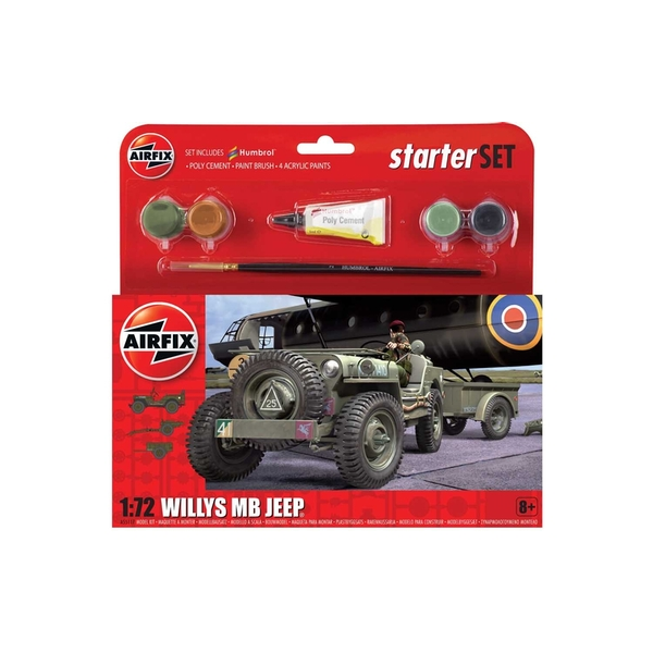 Willys MB Jeep 1:72 Air Fix Small Starter Set