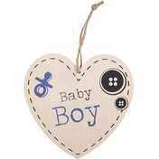 Baby Boy Hanging Heart Sign