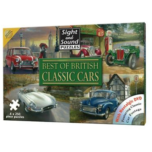Sight And Sound 4 Classic Cars Best Of British Jigsaw Puzzles Includes  Soundtrack CD