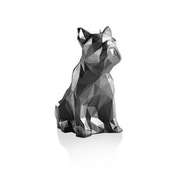 Large Bulldog Steel Low Poly Candle