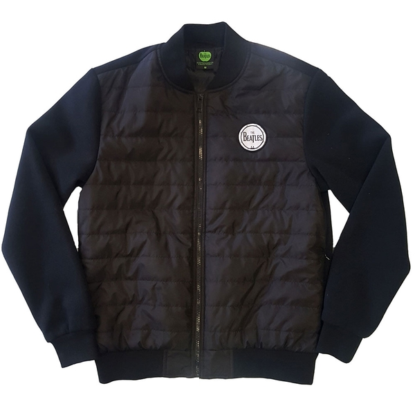 The Beatles - Drum Logo Unisex Small Quilted Jacket - Black