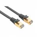 CAT 5e Network Cable STP Gold-plated Shielded Grey 7.50m