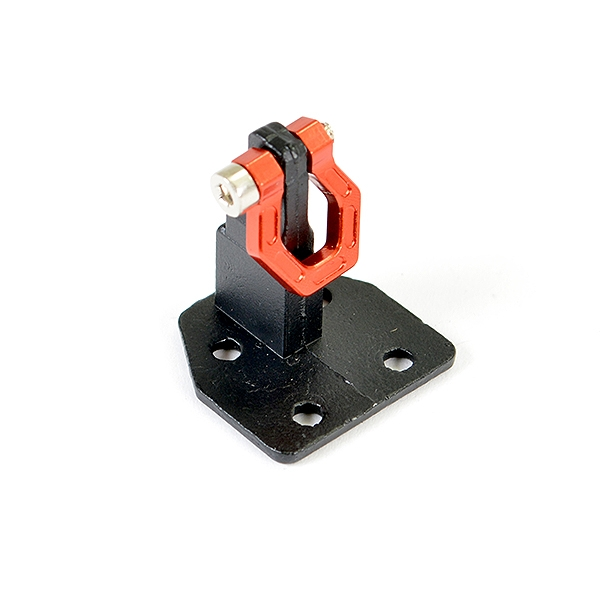 Fastrax Deluxe Aluminium Bumper Mount Plate & Shackle Red