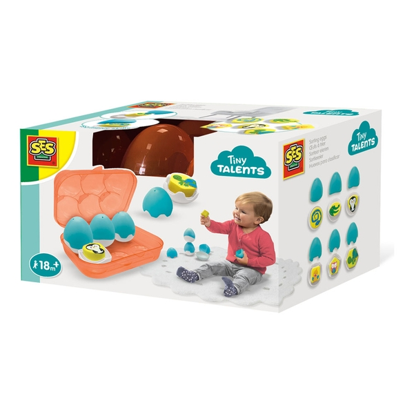 SES Creative - Children's Tiny Talents Sorting Eggs Toy Set (Multi-colour)