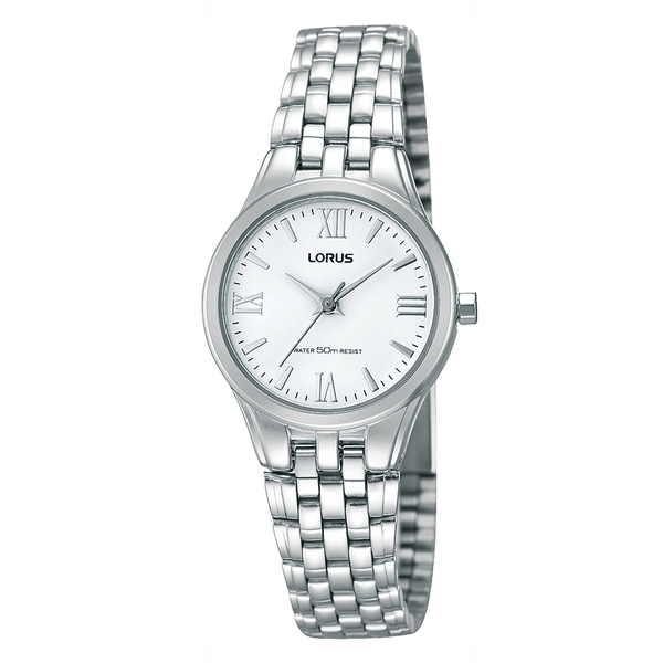 Lorus RRS01UX9 Ladies Wrapped Bracelet Dress Watch with White Dial