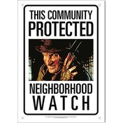 Freddy Neighborhood Watch Tin Sign