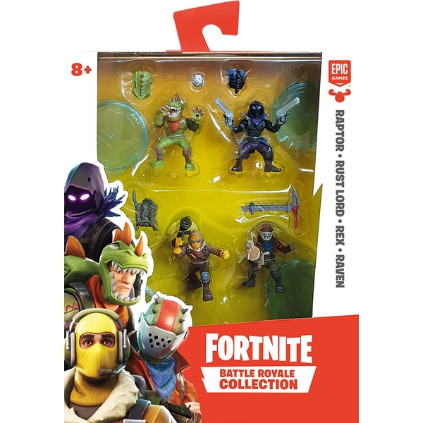 Fortnite Battle Royale Collection Wave 1 Squad Pack - Raptor, Rust Lord, Rex & Raven