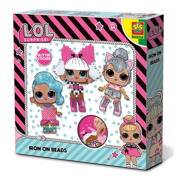 LOL Surprise - Children's Beedz Iron-on Beads Mosaic Set 1400 Iron-on Beads Mix (Multi-colour)