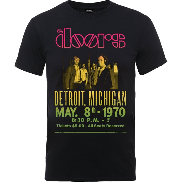 The Doors - Gradient Show Poster Unisex Small T-Shirt - Black