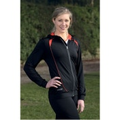 PT Ladies Hoodie Black/Sun Orange 10 (34inch)