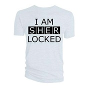 Sherlock - I am Sherlocked Men's XX-Large T-Shirt - White
