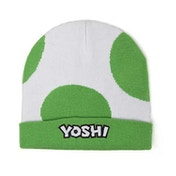 Nintendo Super Mario Bros. Yoshi Egg Cuffed Beanie - Green/White