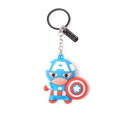 Marvel Comics Captain America Character 3D Pendant Rubber Keychain