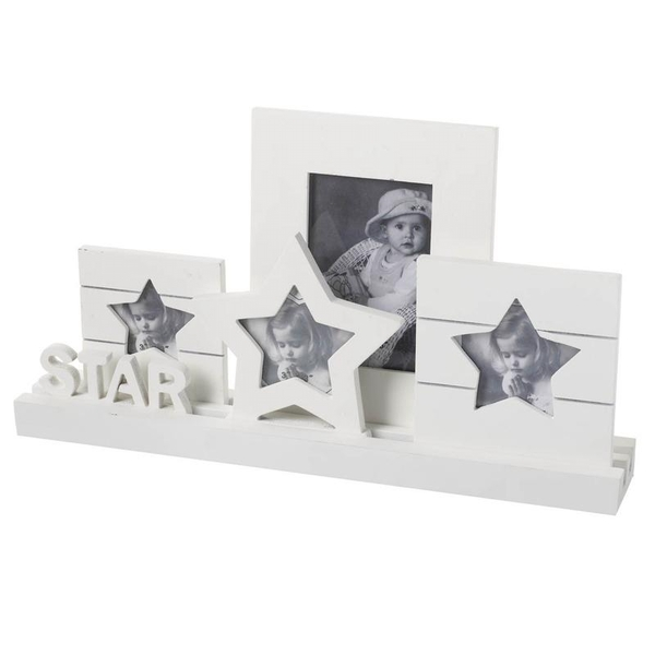 White Star Plaque Multi Photo Frame By Heaven Sends