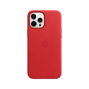 Apple Leather Case with MagSafe (for iPhone 12 Pro Max) - (PRODUCT) RED