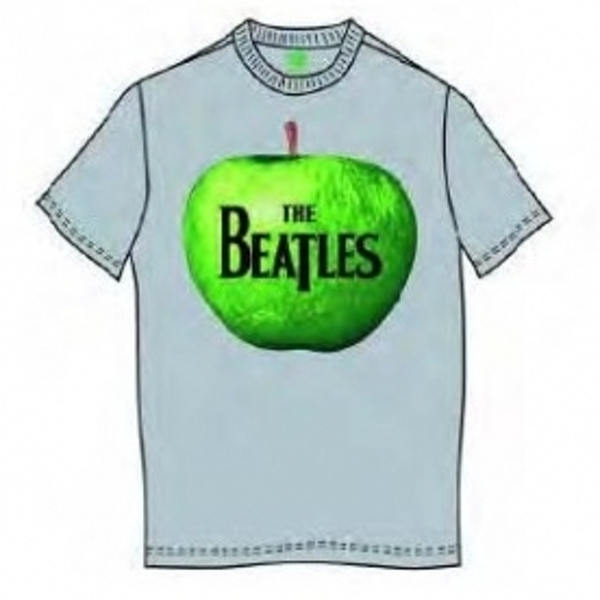 The Beatles Apple Mens Grey T Shirt: X Large