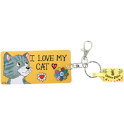 Pack of 6 I Love My Cat Key Rings