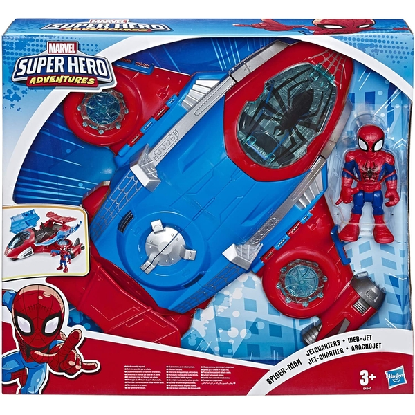 Playskool Heroes Marvel Super Hero Adventures Spider-man Jetquarters Action Figure