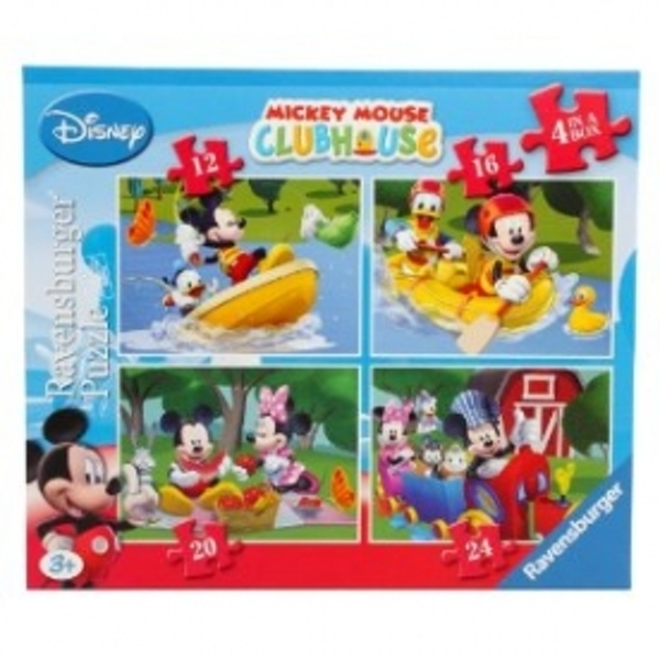 Mickey Mouse Clubhouse 4 In A Box Jigsaw - Image 1