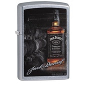 Zippo Jack Daniel's Bottle, Barrels & Signature Street Chrome Finish Windproof Lighter