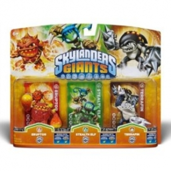 Eruptor, Stealth Elf, and Terrafin (Skylanders Giants) Triple Character Figure Pack